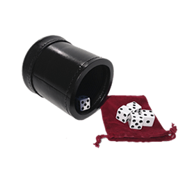 leather dice cups